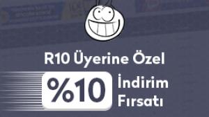 R10 Üyelerine %10 İndirim